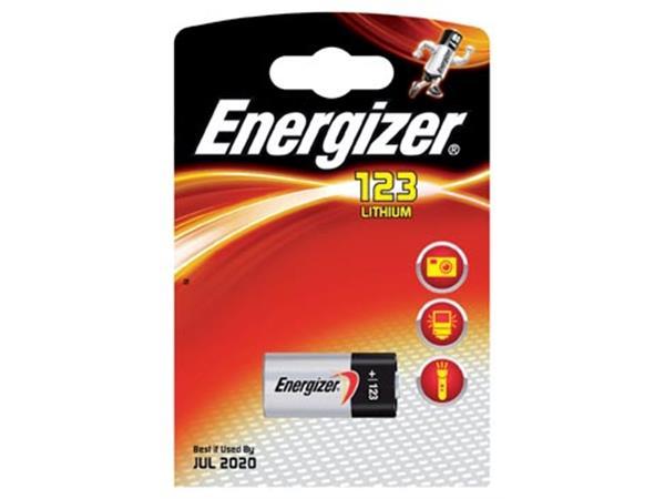 Energizer batterij Photo Lithium 123, op blister
