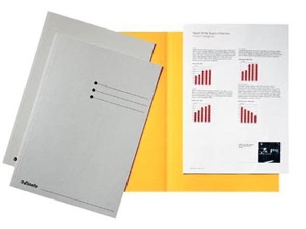 Esselte dossiermap grijs, karton van 180 g/m², pak van 100 stuks