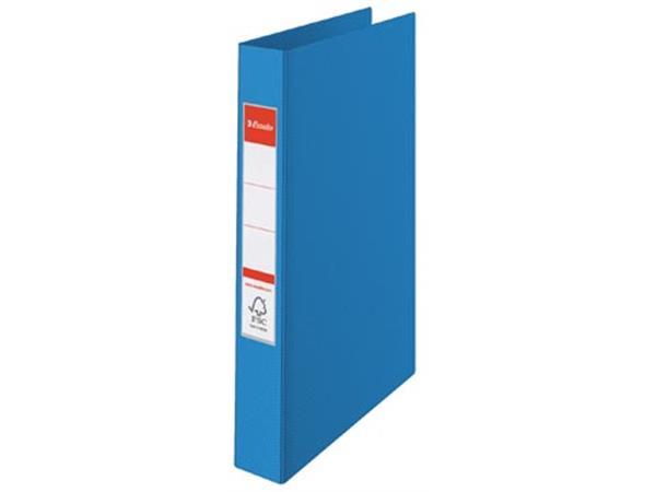 Esselte ringmap PP voor ft A4 rug van 4,2 cm , 23 O-ringen van 25 mm, blauw