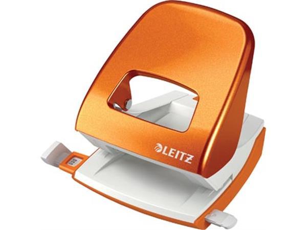 Leitz WOW perforator. 30 blad. oranje. op blister