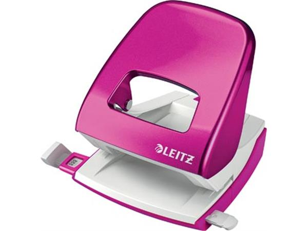 Leitz WOW perforator. 30 blad. roze. op blister