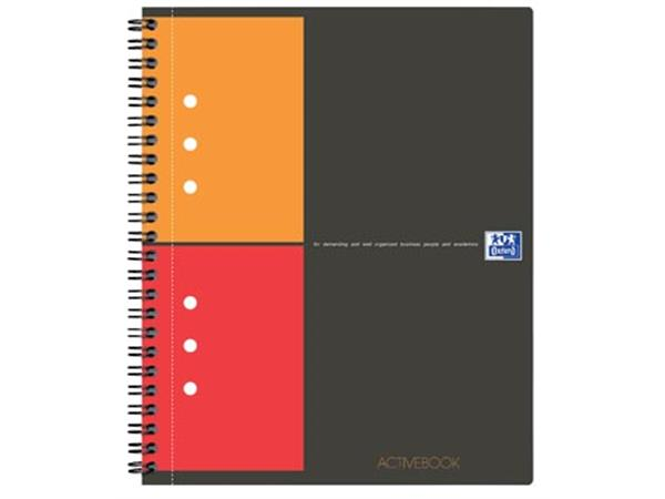 Oxford INTERNATIONAL Activebook, 160 bladzijden, ft A4+, geruit 5 mm