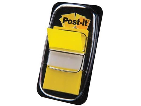 Post-it Index standaard. ft 25.4 x 43.2 mm. geel.