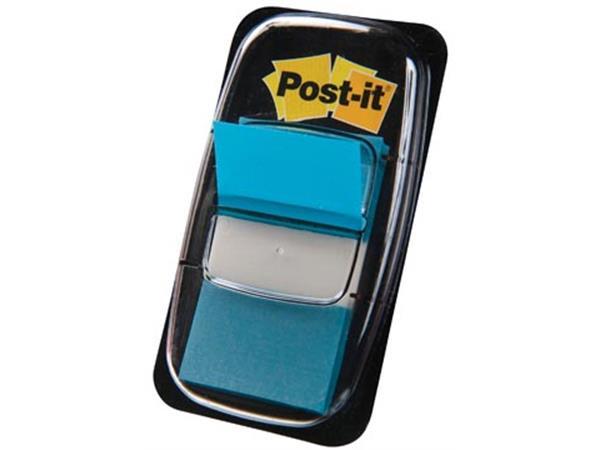 Post-it Index standaard. ft 25.4 x 43.2 mm. turkoo