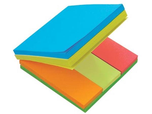 Post-it Multi Notes. kubus met geassorteerde kleur