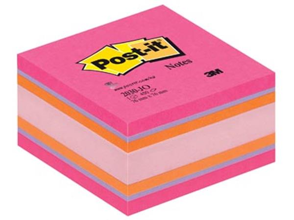Post-it Notes. ft 76 x 76 mm. assortiment roze. or