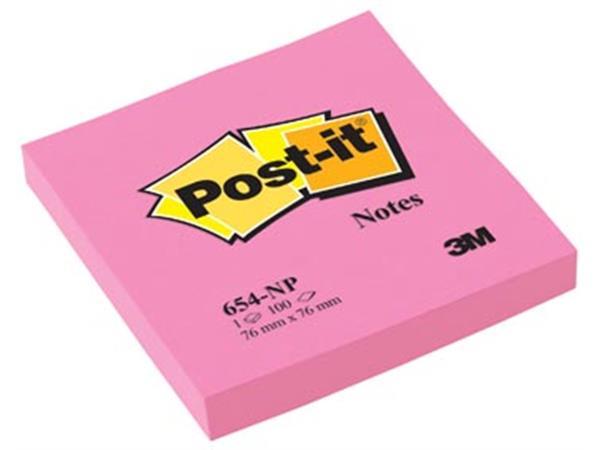 Post-it Notes. ft 76 x 76 mm. neonroze. blok van 1