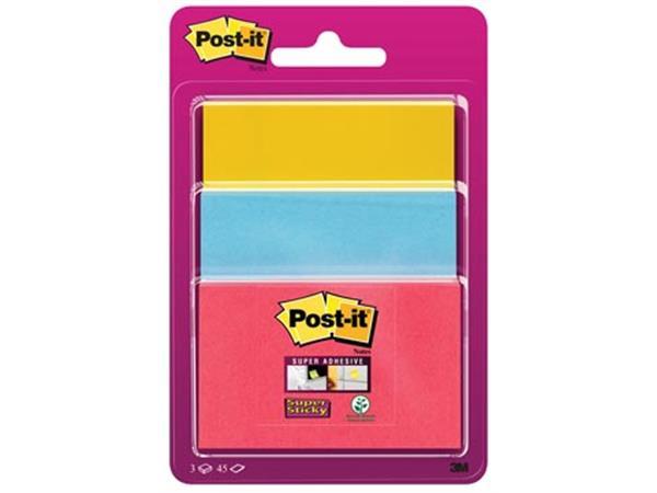 Post-it Super Sticky notes. 3 formaten. geassortee