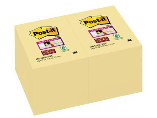 Post-it Super Sticky notes. ft 47.6 x 76 mm. geel.