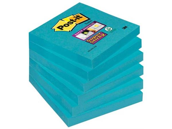 Post-it Super Sticky notes. ft 76 x 76 mm. electri