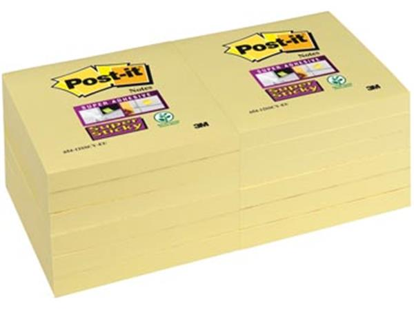 Post-it Super Sticky notes. ft 76 x 76 mm. geel. 9