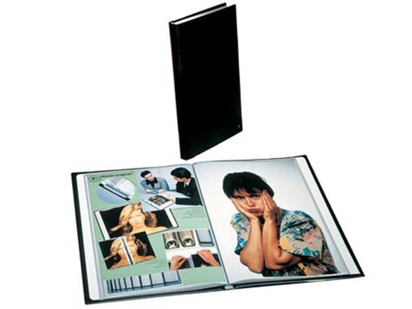 658bbc86490 Rillstab showalbum A4 40 tassen, zwart