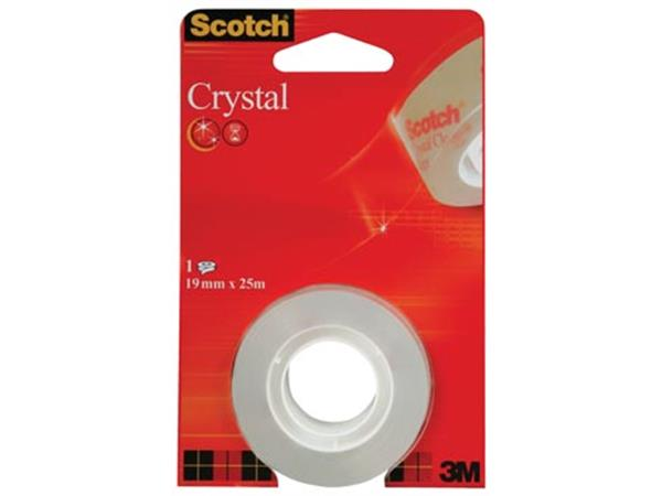 Scotch Plakband Crystal ft 19 mm x 25 m. blister m
