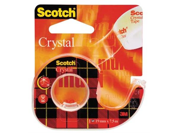 Scotch Plakband Crystal ft 19 mm x 7.5 m. blister
