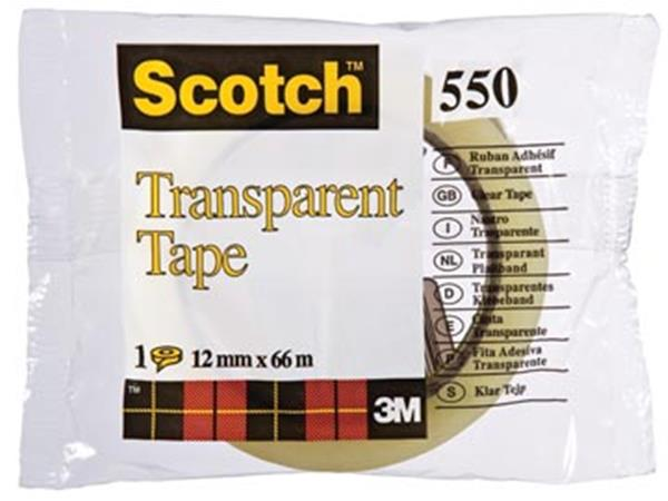Scotch transparante tape 550 ft 12 mm x 66 m