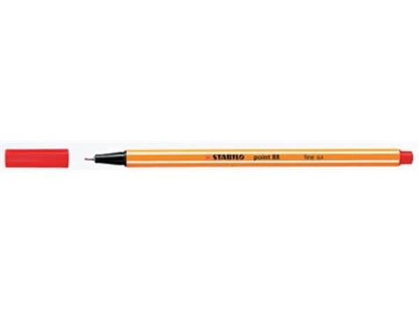 Stabilo fineliner Point 88 rood