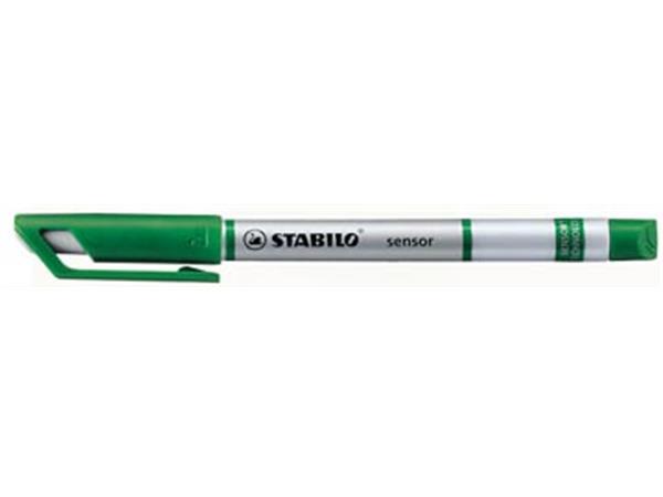 Stabilo fineliner SENSOR (serie 187 - 189). groen