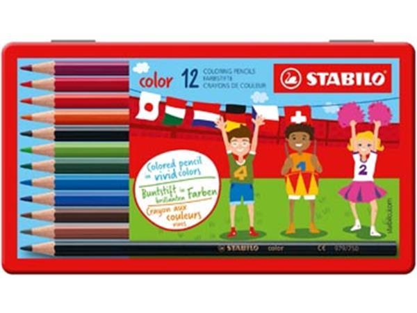 Stabilo kleurpotlood Color 12 potloden in een meta