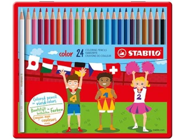 Stabilo kleurpotlood Color 24 potloden in een meta