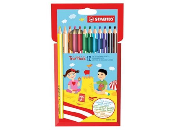 Stabilo kleurpotlood Trio 12 potloden
