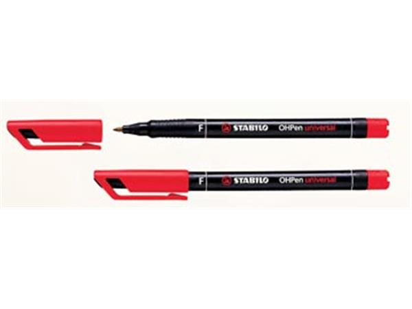Stabilo OHP-marker OHPen Universal Permanent rood.