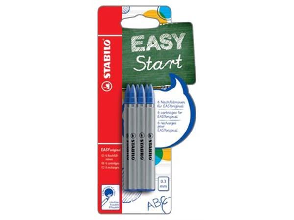 Stabilo vulling Easy Orginal. fijn. blauw. blister