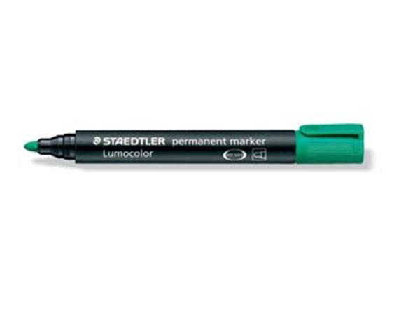 Staedtler permanente marker groen, schrijfbreedte 2 mm, ronde punt