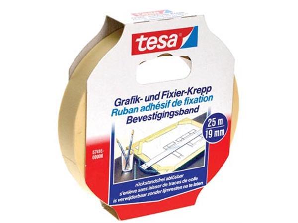 Tesa bevestigingsplakband. ft 19 mm x 25 m
