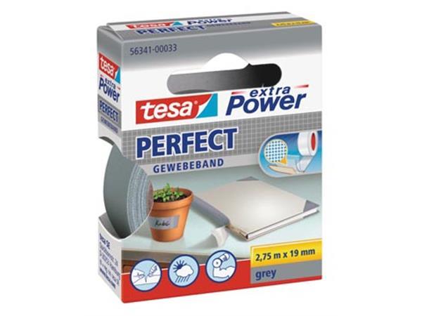 Tesa extra Power Perfect. ft 19 mm x 2.75 m. grijs