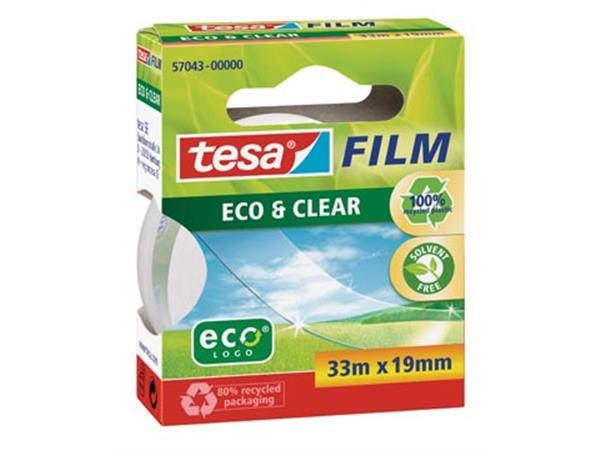 Tesafilm eco&clear ecoLogo. ft 19 mm x 33 m
