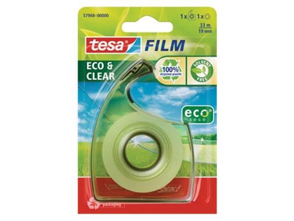 Tesafilm eco & clear ecoLogo. ft 19 mm x 33 m. bli