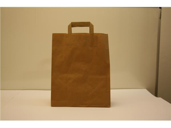 De Papieren Zak : Online papieren zak bruin met handgrepen cm stuks