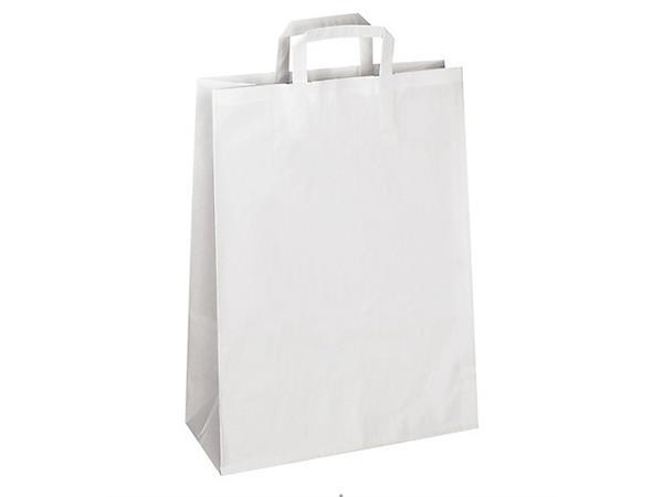 De Papieren Zak : Online papieren zak wit met handgrepen cm stuks kopen