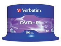DVD+R VERBATIM 4.7GB 16X 50PK SPINDEL