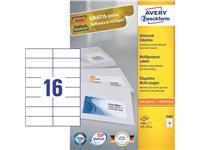 ETIKET AVERY ZWECK 3484 105X37MM 1600ST