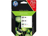 INKCARTRIDGE HP E5Y87EE 301 2X ZWART + KLEUREN