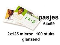 LAMINEERHOES GBC 64X99MM 2X125MICRON