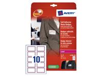 NAAMBADGE ETIKET AVERY L4786-20 80X50MM 200ST RD K