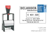WOORD-DATUMSTEMPEL COLOP S2660 CLASSIC BON 36X56MM