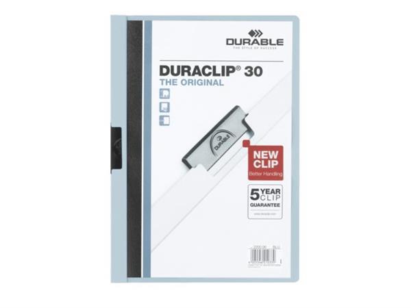 KLEMMAP DURABLE 2200 A4 PL/TR 3MM LICHTBLAUW