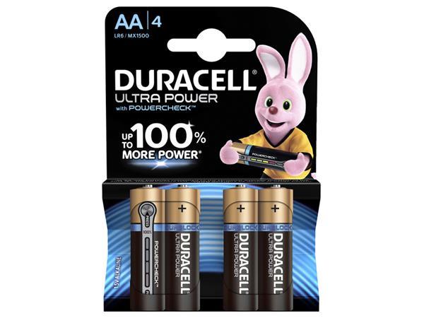 BATTERIJ DURACELL AA ULTRA POWER MX1500 ALKALINE