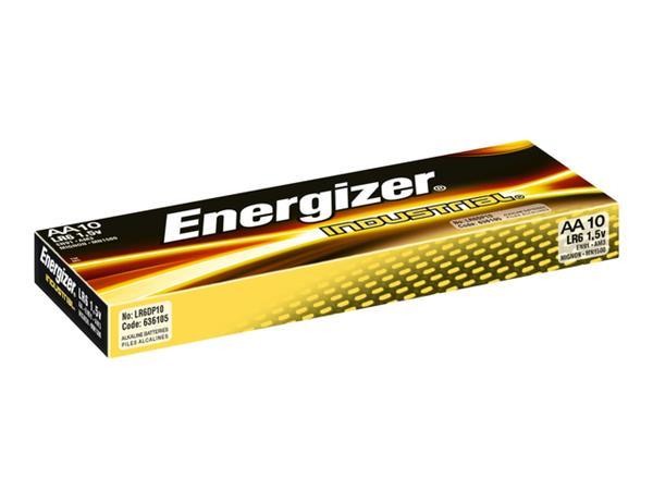 BATTERIJ ENERGIZER INDUSTRIAL AA ALKALINE 10 STUKS