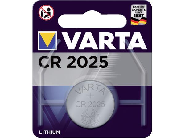 KNOOPCEL BATTERIJ VARTA CR2025 LITHIUM 3VOLT