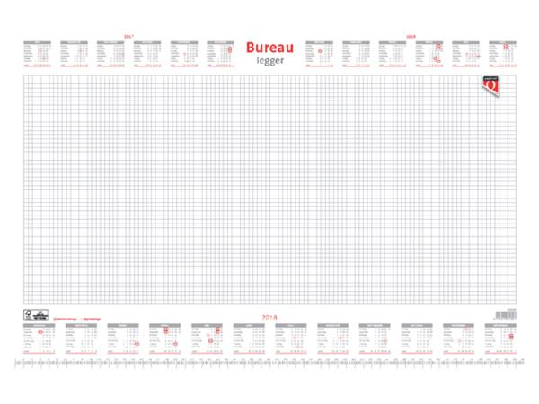 BUREAU-ONDERLEGBLOK 2021 QUANTORE 60X40CM