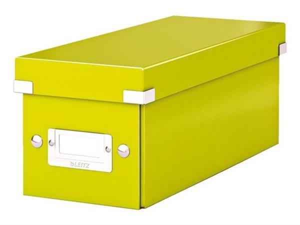 CD-BOX LEITZ WOW CLICK&STORE 127X124X320MM GROEN
