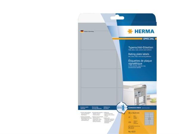 PRINTER-ETIKET HERMA 4223 96X50.8MM ZILVER 250ST