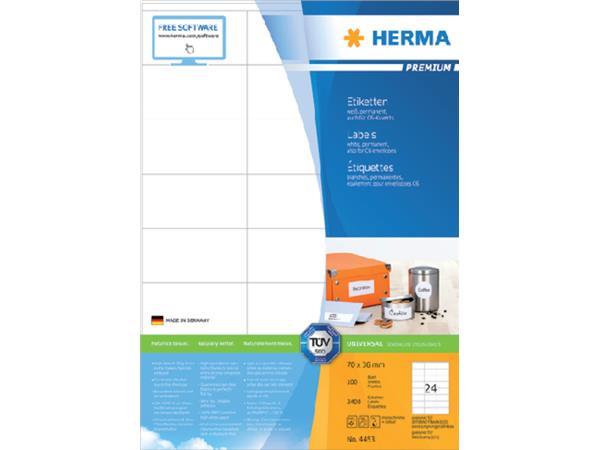 PRINTER ETIKET HERMA LABEL 4453 70X36MM 2400 STUKS