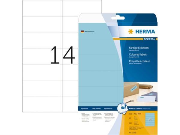 ETIKET HERMA 5060 105X42.3MM 280ST BLAUW