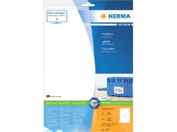 ETIKET STICKER HERMA 8637 A4 210X297MM WIT 10ST