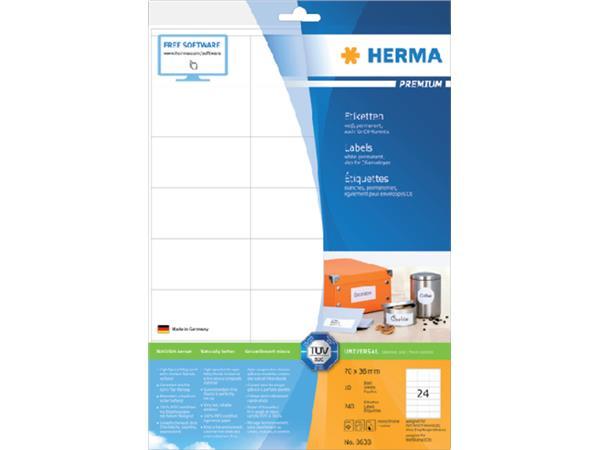 PRINTER-ETIKET STICKER HERMA 8638 70X36MM A4 VEL